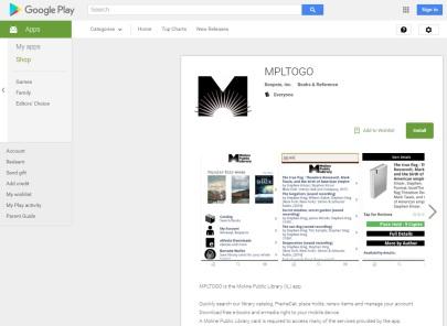 MPLtoGo App Store