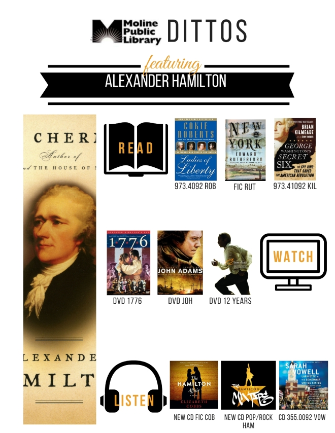 Alexander Hamilton Shelf End Ditto