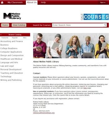Gale Courses SC