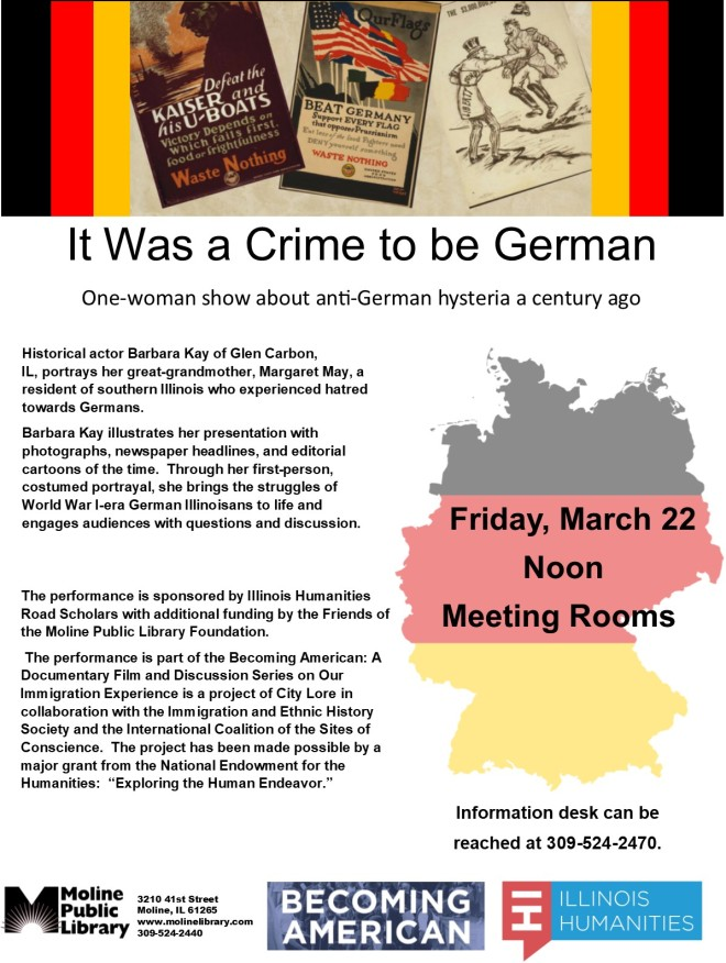 Crime to Be German