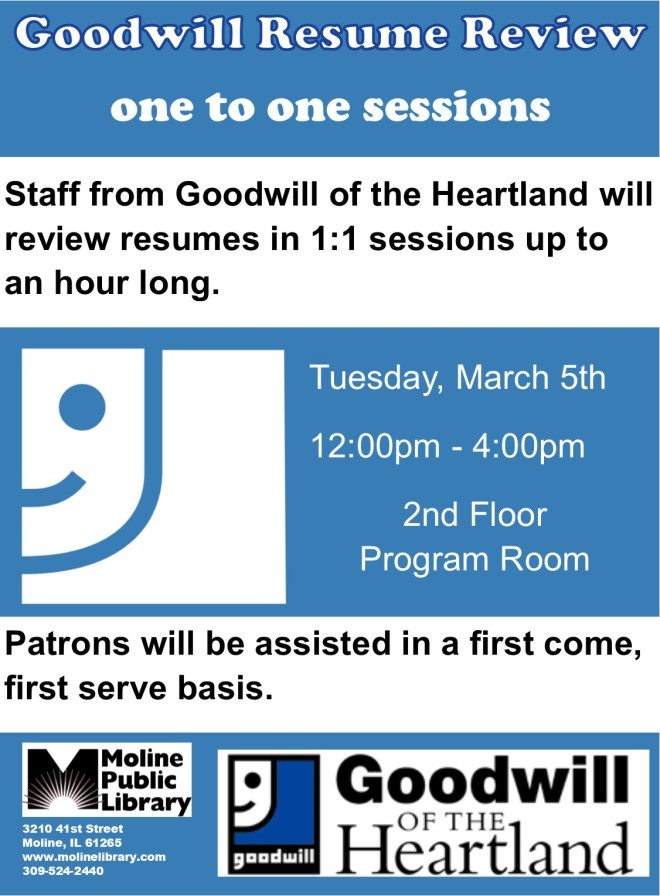 goodwill resume