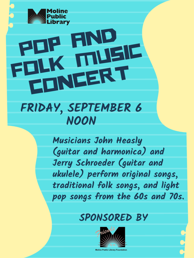 pop and folk music concert poster