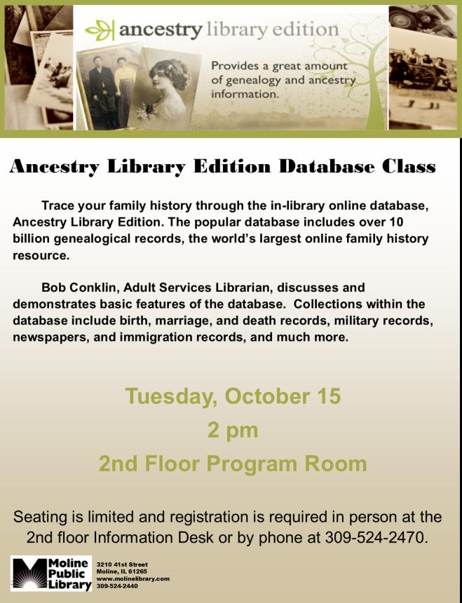 October Ancestry Class