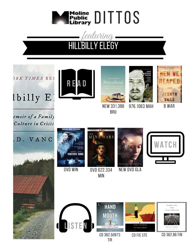 Hillbilly Elegy Shelf End Ditto NU